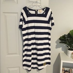 Michael Kors navy & white t-shirt dress